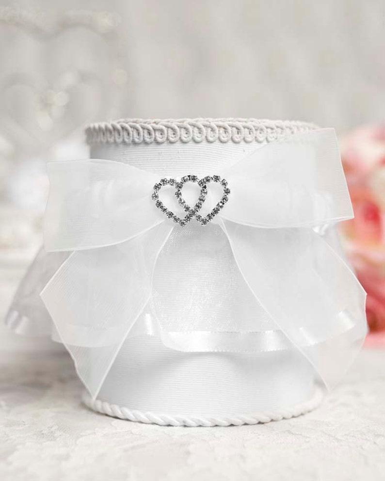50335 Rhinestone Hearts Wedding Garter