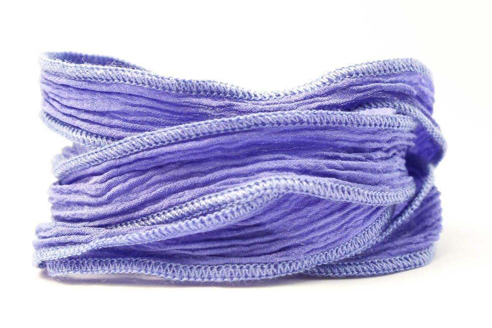 Ruban de soie à la main Pervenche - - Pervenche 651 d90577