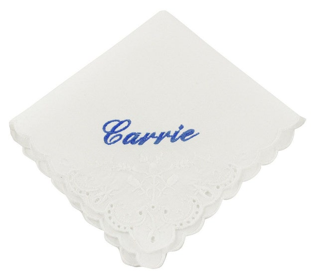 Cursive Custom Name Wedding Handkerchief - CH209