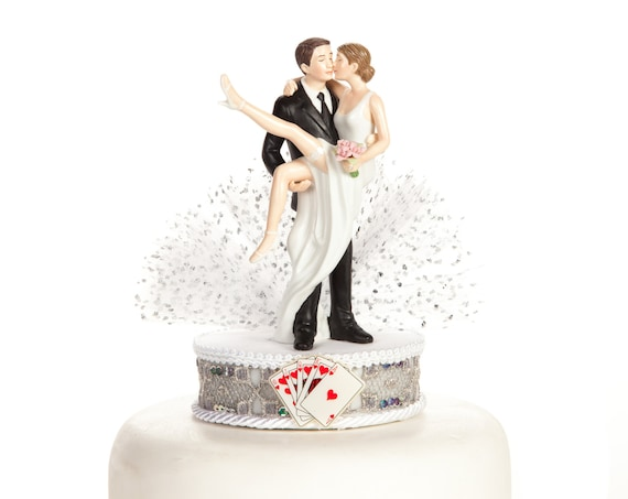 d47db826c41 Funny Sexy Over the Threshold Las Vegas Wedding Cake Topper