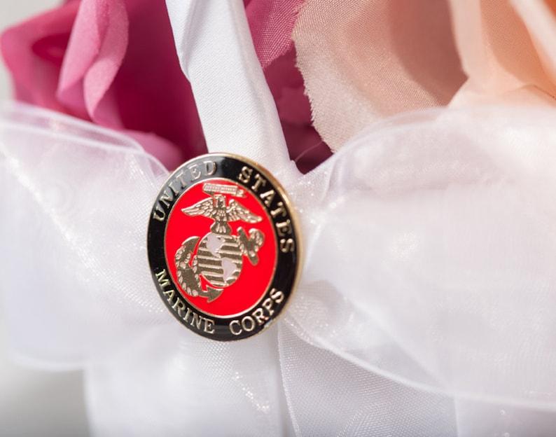 Military Wedding Flowergirl Basket 800089 Air Force Navy Army Marines
