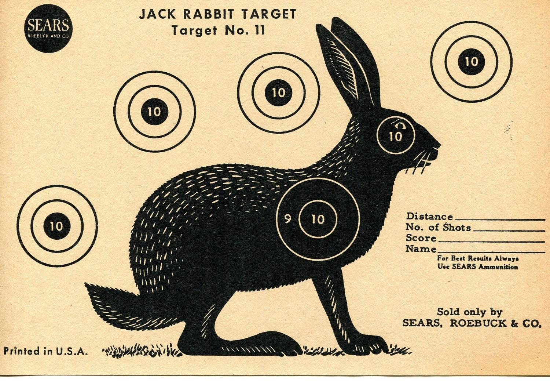 Vintage Shooting Target / Rabbit | Etsy
