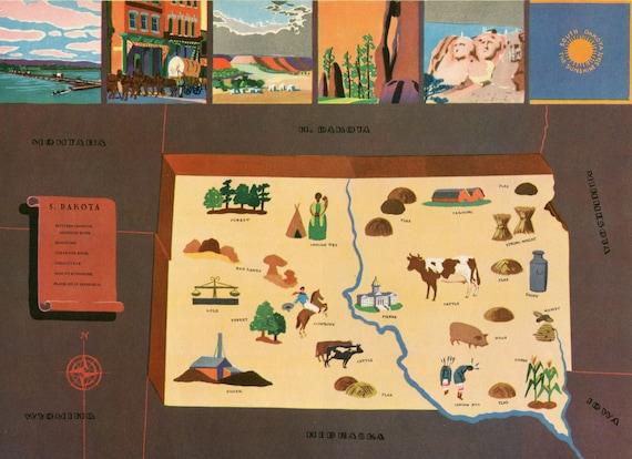 VIntage Pictorial Map of Minnesota 1939 World/'s Fair
