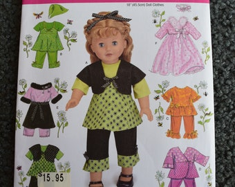 781d06561 Simplicity 2458 Doll Clothes for 18