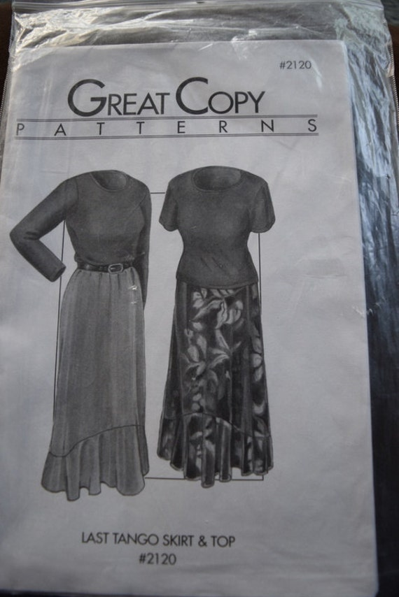 Great Copy 2120 Last Tango Skirt /& Top Sewing Pattern Pattern Only