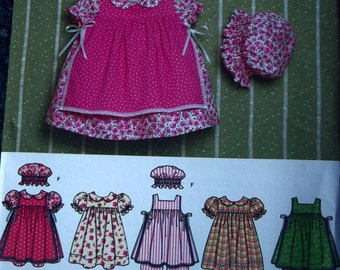 Simplicity 4709 Babie's Dress, Pinafore, Pantaloons, Panites and Hat (uncut) sizes XXS-L