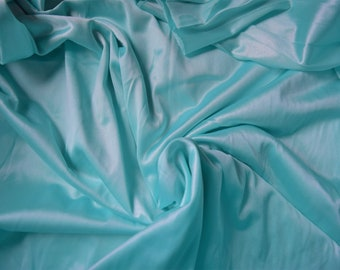"""1 Yard Turquoise Nylon Tricot in 108"""" wide"""