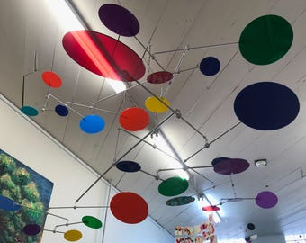 Large Mobile for Commercial Installation - Bright and Colorful by Carolyn Weir of Skysetter Mobiels