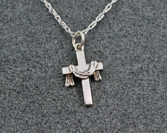 "THE ROBE CROSS Necklace in Sterling Silver, includes 18"" chain"