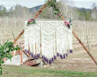Macrame wedding backdrop/large macrame wall hanging/bohemian decor