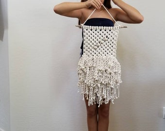 SALE! Fringy macrame wall hanging.