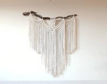 XL macramé wall hanging, weaving, boho tapestry, wall decor.