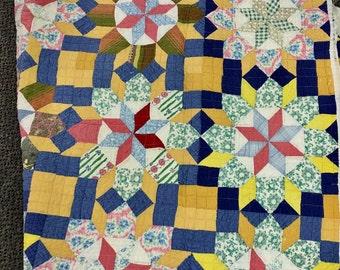 Vintage quilt Patchwork . Great colors 1950