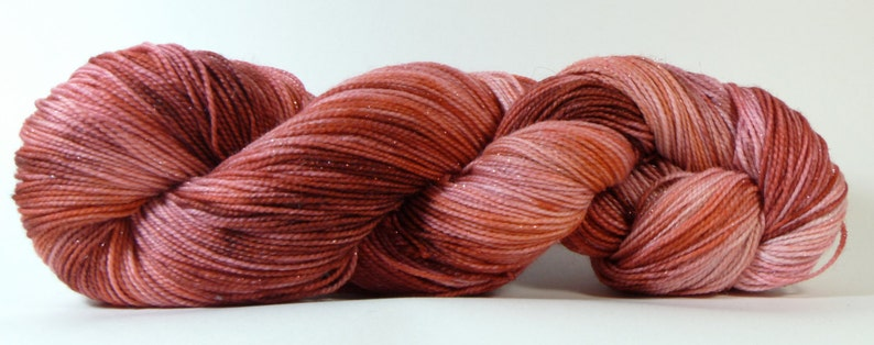 Long Live the Queen Jest Sparkle 2ply MerinoNylonStellina Sock Yarn of Letters