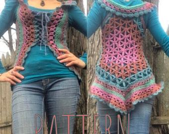 Flower of Life crochet vest pattern