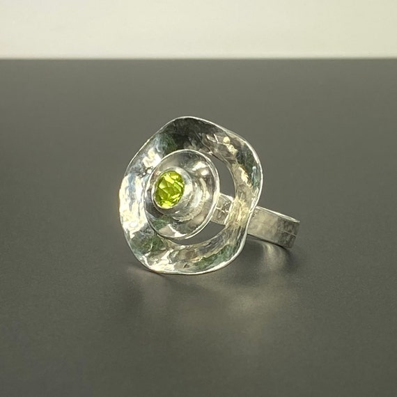 Halo Ring with Peridot