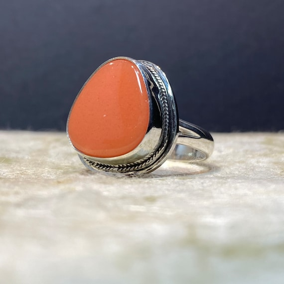 Orange Rosarita Statement Ring