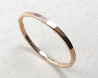 Gold filled Thin Stacking Ring, gold ring