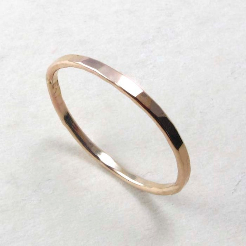 Gold filled Thin Stacking Ring gold ring image 0