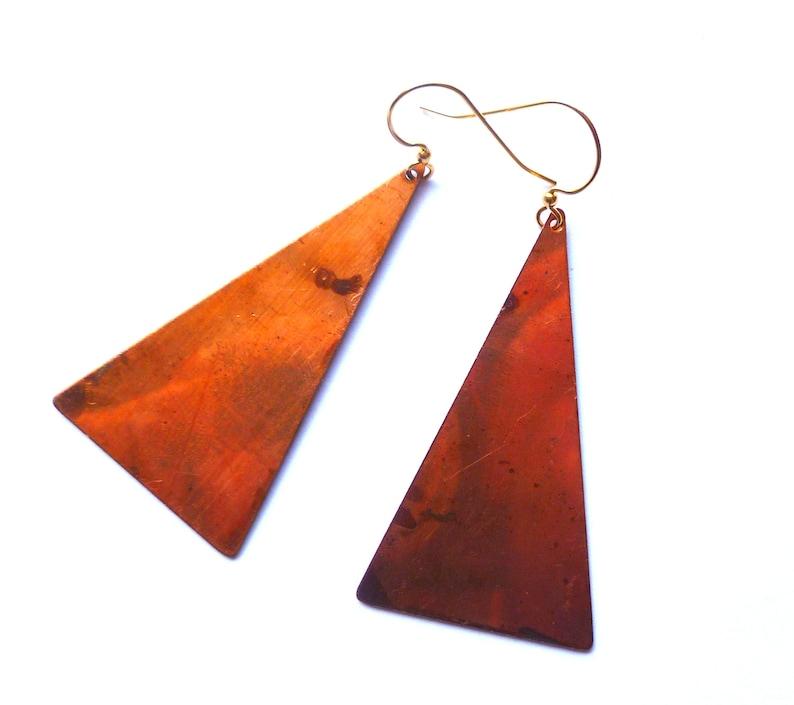 Isosceles triangle earrings image 0