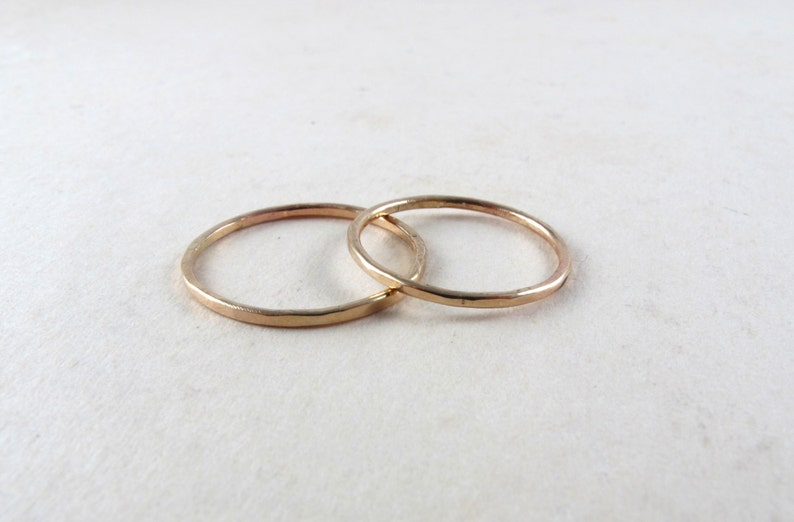 Gold filled knuckle ring gold mid finger ring image 0