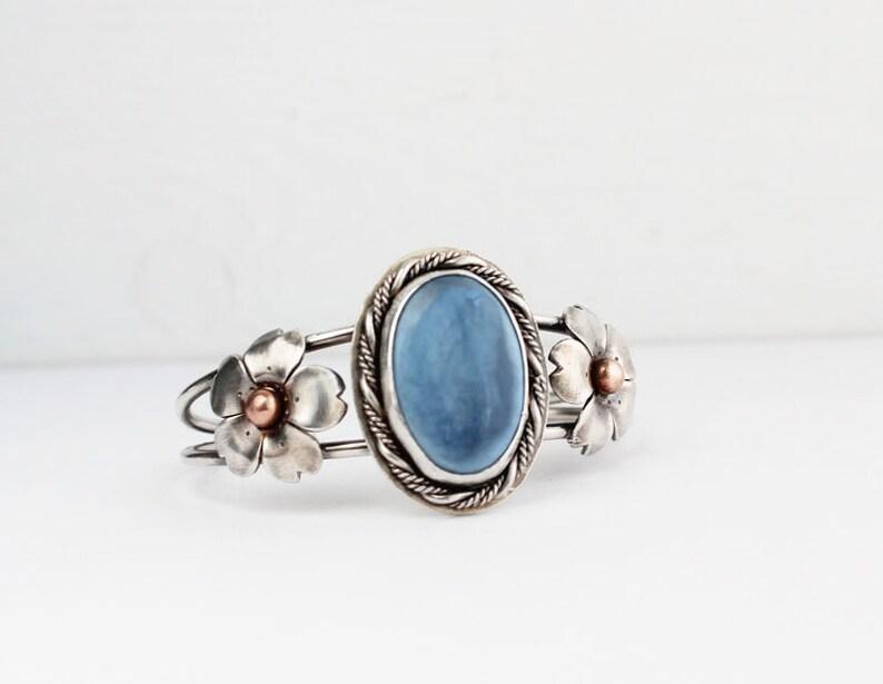 Cherry Blossom jewelry Boho Chic jewelry Hapa Girls Blue Owyhee Opal Cuff Statement Bracelets