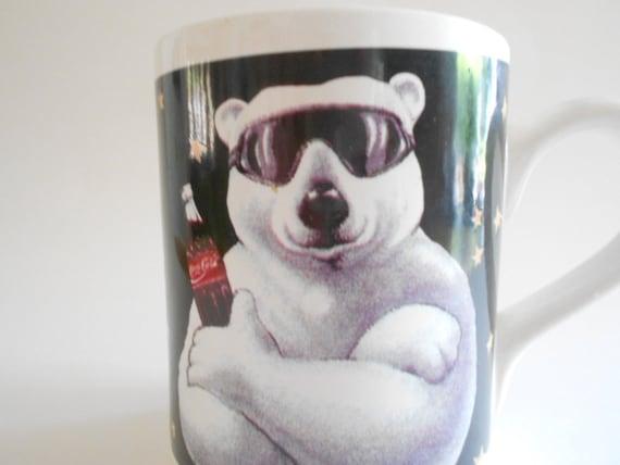 Authentic Coca-Cola Polar Bear Couple Coffee Mug Cup