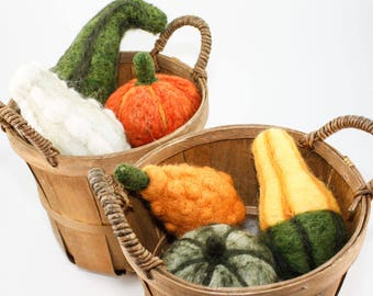 Needle Felted Gourds - Autumn Squash Harvest (Each Sold Separately)