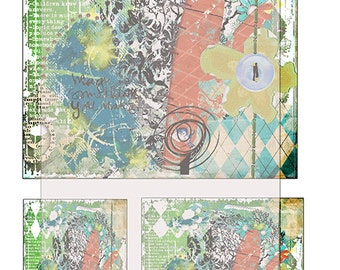 grunge/ texture/ digital journal/ paper sheet No 2..... A4 Digital collage sheet/ JoUrNaL ImAgEs