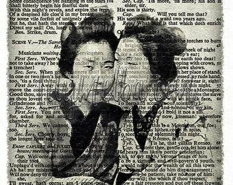 Digital art print 5...  A4 Instant Printable digital download. collage sheet. Printable mixed media