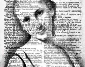 Digital art print...  A4 Instant printable digital download. collage sheet