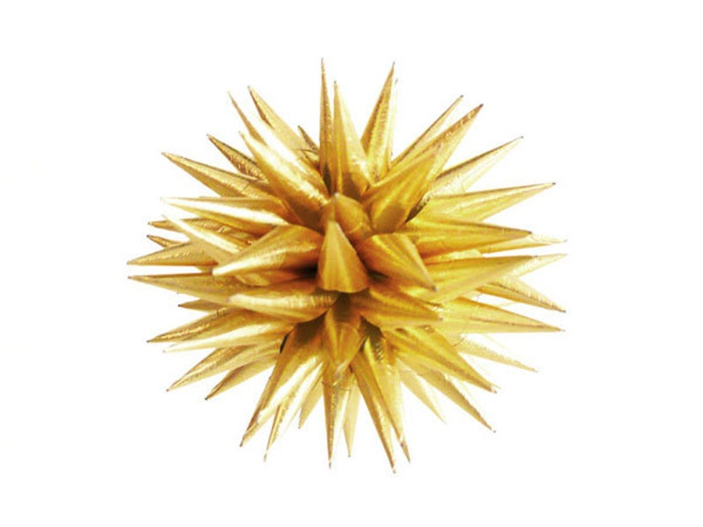 Gold Christmas Ornament Paper Star Decoration Gold Holiday image 0