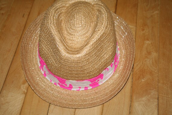 Ladies Fedora hat made with a Lilly Pulitzer fabric band  ceecd6854f3