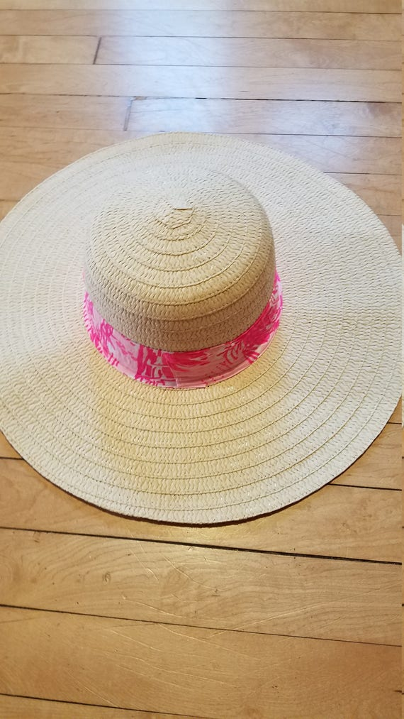 659c0a15954 Ladies sun hat made with a Lilly Pulitzer fabric band