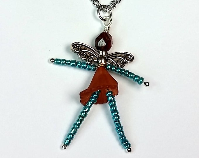 Aqua Sugar and Spice Good Luck Fairy Pendant - Tiny Dancer Pendant