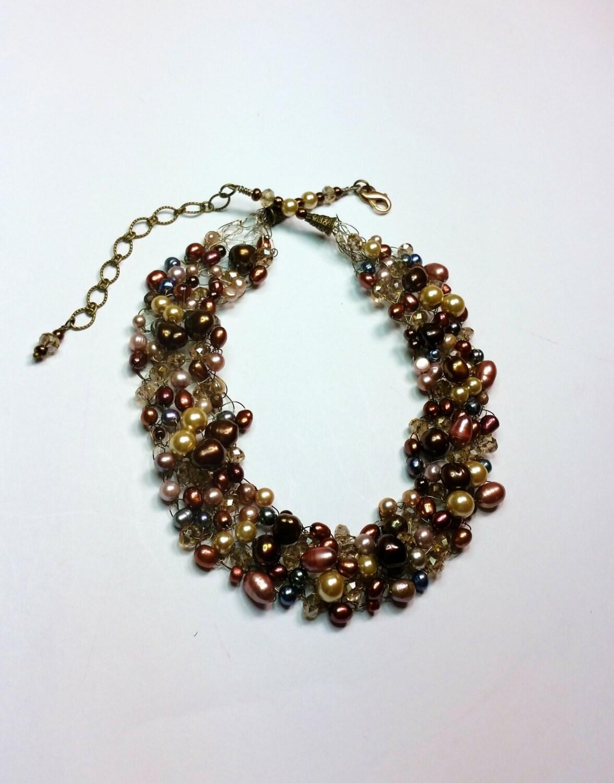 Sienna Rainbow Wire Crocheted Necklace Set - Wire Crochet Jewelry ...