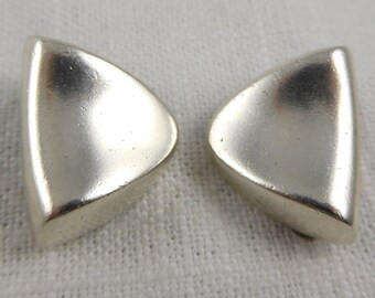 b5adce745 Vintage, Barra, Sterling, Chunky Clip On Earrings
