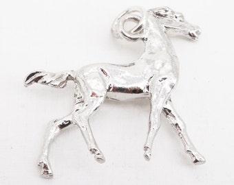 Vintage Sterling Large Horse Charm