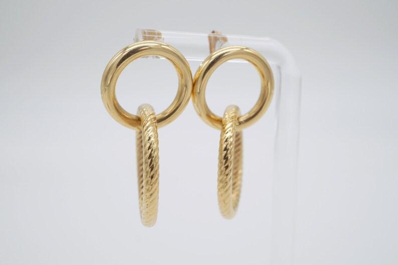 ww vintage 14k gold hollow earrings