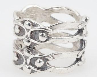 size 5 vintage sterling silver ring