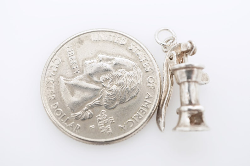 vintage sterling mechanical well pump charm