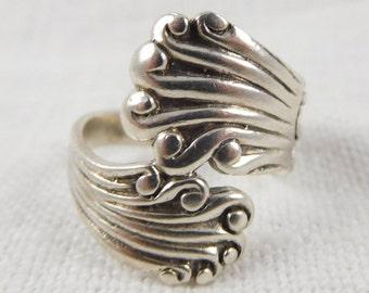 Vintage, Size 7, Sterling Wrap Ring