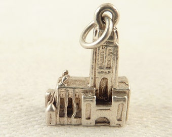 SALE ---- Vintage Sterling Detailed Miniature Cathedral Charm