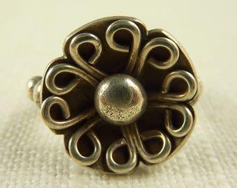 Size 5.75 Vintage Sterling Handmade Flower Design Ring