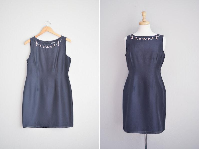 202f3c9c CLEARANCE SALE // Size M // SILK Cocktail Dress // Black   Etsy