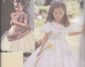 Simplicity 5216 Flower Girl or Special Occasion Dress Sz 5-8 UC, FF