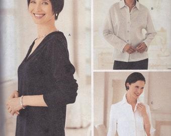 Butterick 3456 Women's Button-Down Shirt/Top by Ellen Tracy/Linda Allard Sz 12-16 UC