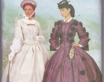 Butterick 6694 Making History Victorian Skirt and Fitted Top Sz 6-10 CUT