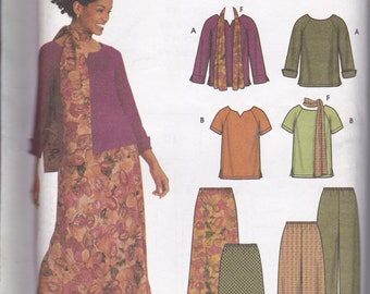 Simplicity Pattern 9827 2-Hour Separates Top, Pants, Skirt and Scarf 16-22 UC