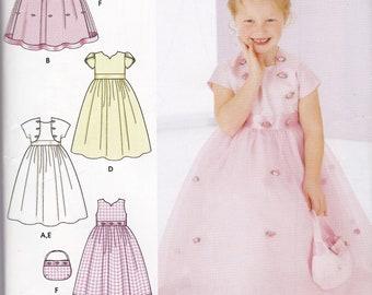 Girls Simplicity Must Haves Flower Girl Dress, Jacket, Purse Sz 3-6 UC, FF